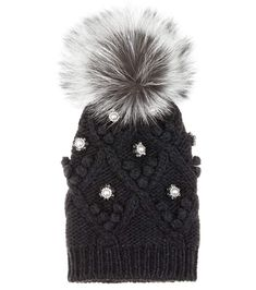 DOLCE & GABBANA Embellished Cashmere And Fur Knitted Beanie. #dolcegabbana #hats
