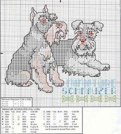 allemaal honden Cross Stitch Alphabet, Cross Stitch Baby, Cross Stitch Animals, Cross Stitch Charts, Cross Stitch Patterns, Cross Stitching, Cross Stitch Embroidery, Embroidery Patterns, Schnauzer Art