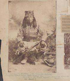 Ba-keithz-ogie (aka The Yellow Coyote, aka Dutchy) -   Chiricahua Apache Scout- circa 1885