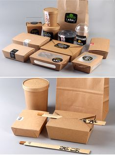 takeout packaging Chinese Kraft Take Away Box,Wholesale Food Packaging Containers . Takeaway Packaging, Baking Packaging, Food Packaging Design, Kraft Packaging, Coffee Packaging, Bottle Packaging, Menu Design, Food Design, Design Design