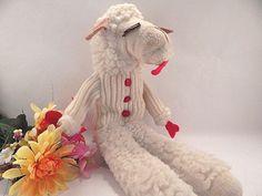 Hand Puppet Shari Lewis Lamb Chop Vintage 1993 Television Icon Plush Animal Toy #CE