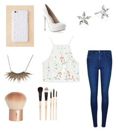 """""""White pumps"""" by hailey70707 on Polyvore featuring Zara, Calvin Klein, Felony Case, Lauren Ralph Lauren, H&M and Gorgeous Cosmetics"""