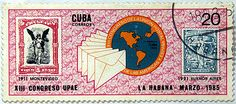 Cuba.  13th CONGRESS OF THE POSTAL UNION OF THE AMERICAS, HAVANA. Scott 2771 A759, Issued 1985 Mar 11, Perf. 12 1/2 x 12, 20.