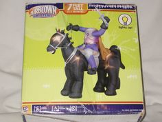 New Gemmy Over 7' Lighted Haunted Headless Knight Halloween Airblown Inflatable | eBay