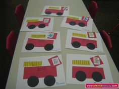 fire truck craft (1)  |   Crafts and Worksheets for Preschool,Toddler and Kindergarten
