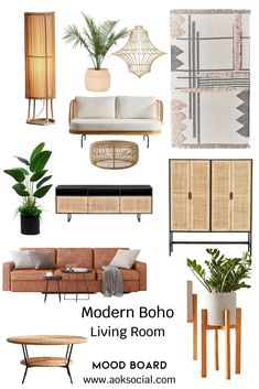 Decor Ideas and more to get in on the trend! Boho Chic Living Room, Boho Room, Small Living Rooms, Home And Living, Interior Design Living Room, Living Room Designs, Living Room Inspiration, Modern Room, Home Decor Styles
