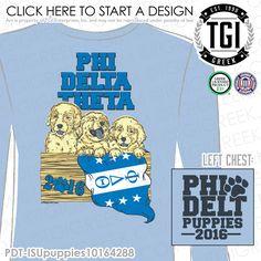 Phi Delta Theta | Phi Delt | ΦΔΘ | Phi Delt Puppies | Mixer T-shirts | Fraternity Date Party | Date Party Tees | Brotherhood | Greek Mixers | TGI Greek | Greek Apparel | Custom Apparel | Fraternity Tee Shirts | Fraternity T-shirts | Custom T-Shirts