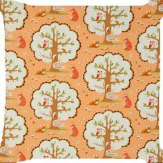 """Red fox deer squirrel owl bird flower forest butterfly pillow cushion cover 18"""" #Handmade"""
