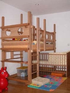 shared kids room with crib | for the home / bunk bed with crib