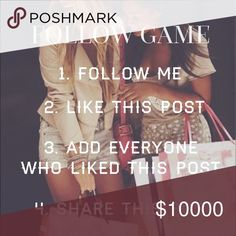 GAIN MORE FOLLOWERS 💕 Lets get this going!                                                                       💥F O L L O W   L I K E   S H A R E💥 J. Crew Other