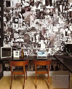 Awesome collage wall.