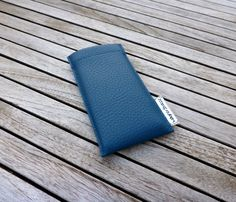 Simple but yet cool: iPhone case from wagnerstrasse's male collection made of high grade Skai vegan leather in petrol blue. At http://www.wagnerstrasse.de #iphonecase #iphone #vegan #petrolblue #men #Herrenkollektion