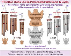 Biblical Memorial Wind Chimes, The Perfect Personalized Sympathy Gift!