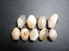 Nine beautifully banded agates Mali, Sub Saharan, thousands of years old, STATEMENT BEADS, Necklace starts, Bracelets or Anklets DIY, rare - pinned by pin4etsy.com