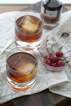 Spiced Maple Manhattan: warm up to fall with this sweet-and-spiced variation on the classic cocktail.