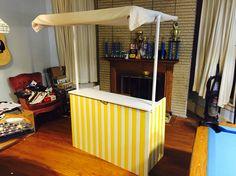 Lemonade stand fully assembled