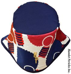 African Queen Blue-top Bucket Hat  Afro  by HamletPericlesInc