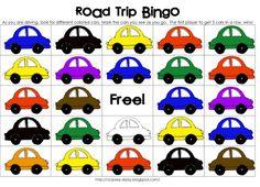 Vehicle Color Bingo - Printable