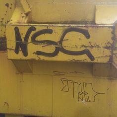 #graff #graffiti #graffitiart #northvancouver #northvan #yellow #nsc #black