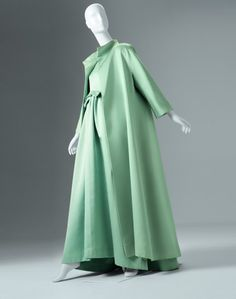 Cristóbal Balenciaga (Spanish 1895–1972) Evening dress and coat, 1962–63 Abraham silk Photo by Ken Howie