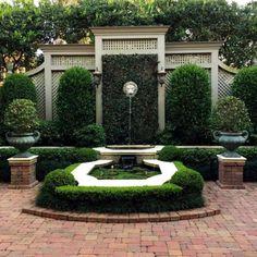 40 Simple DIY Backyard Design Ideas on A Bugdet – backyard design ideas Formal Gardens, Outdoor Gardens, Small Gardens, Garden Fountains, Garden Landscape Design, Garden Structures, Water Garden, Garden Pool, Herb Garden