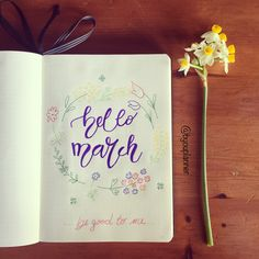 Hello March | Bullet Journal #bulletjournal #bulletjournalideas #plannerideas #setupmarch #hellomarch #welcomemarch #spring #byouplanner #byoutube • Instagram: @byouplanner Youtube: Byoutube Twitter: Byoutwitt Facebook: Byou.pic