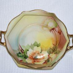 Nippon Double Handled Porcelain Bowl