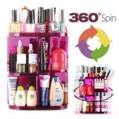 360 Rotating Spinning Cosmetic Organizer Shelf Makeup box brush holder Rack New  #APax