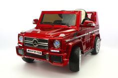 Mercedes G65 Kids Ride-On Car MP3 Input 12V Battery Power Wheels R/C Parental Remote | Cherry Red
