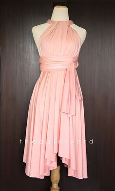 Peach Bridesmaid Convertible Dress Infinity Dress by thedaintyard, $34.00