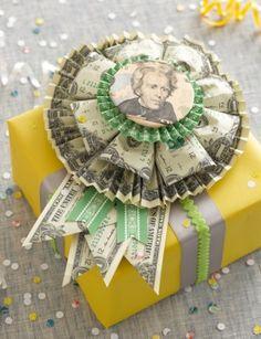 Money Rosette | 25+ Creative Ways to Give Money