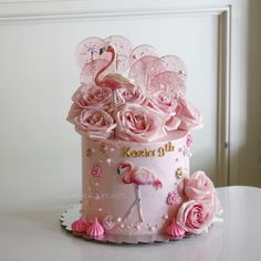Flamingo Cake, Flamingo Birthday, Buttercream Cake, Birthday Cake, Desserts, Cakes, Food, Food Cakes, Ideas