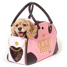 Juicy Couture Dog Carrier pink...I need a cutesy carrier like this!!!