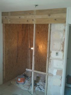 3 - Firast boards and studs in place, By Upcycle Interiors Ltd Cladding, Building Design, Pallet, Studs, Upcycle, Boards, Interiors, Flooring, Architecture