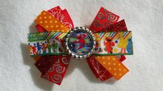 Elmo Bottle Cap Boutique Hair Bow  bow 3  by HandGCrafts on Etsy