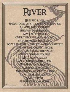 "River Prayer poster 8 1/2"" x 11""."