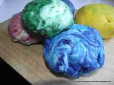 Magic Marble Playdough...a fun way for kids to explore colour mixing....and a little workout for the hands too!