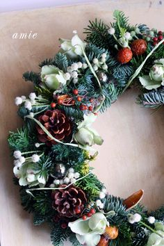 ☆.。.:*・花美を創造する毎日 in 二子玉川☆.。.:*・-クリスマスリース
