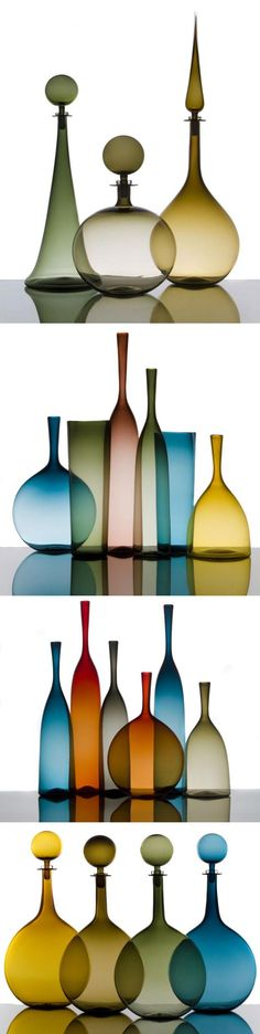 Joe Cariati does beautiful glassware in beautiful colours. via The Contemporist