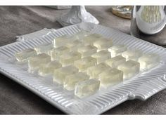 Champagne Jello Shots. These could be put into jello shot containers and thrown into a cooler of ice instead of cut up for better travel.
