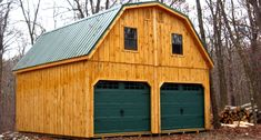 20x20 Raised Roof Garage with Metal, Gambrel Roof