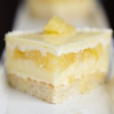 Pina Colada Bavarian Cream Cake with Pineapple Gelee and Dacquoise. Recipe included.