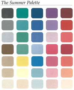 Summer Palette.........tHIS LOOKS LIKE TWO...it's softened and greyed just a little.....