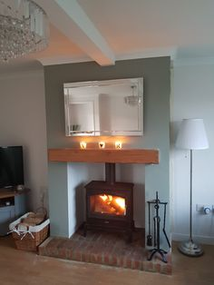 Log Burner Living Room, Real Fire, Fire Places, Dream Houses, Living Rooms, Room Ideas, Lounge, Inspiration, Home Decor