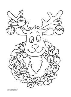 kleurplaat kerst rendier Christmas Colors, Christmas Crafts, Christmas Cards Drawing, Christmas Coloring Sheets, Daisy Girl Scouts, Felt Ornaments, Halloween Cards, Christmas Printables, Pictures To Draw