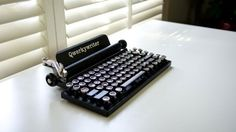 LOVE this! Could possibly work on my Kindle Fire? Not sure how portable, but so cute!  Qwerkywriter for iPad – Fubiz™