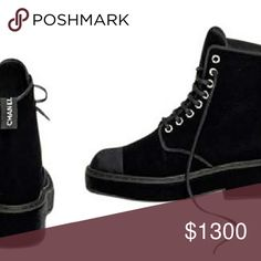 Chanel velvet boots They are brand new... super chic CHANEL Shoes Combat & Moto Boots