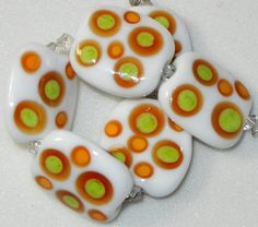 Handmade Lampwork Glass A Colorful Six  Bead by DIFDesignsBeads, $24.00