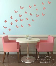 Beautiful Brown Branches Patterned Printed Vinyl Wall Decal Stickers