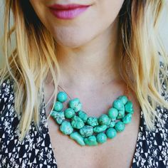 Follow this super easy tutorial to make your own beaded necklace!